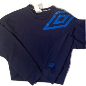 Umbro Navy Blue Pullover Sweater Long Sleeve
